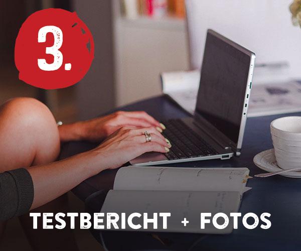 Schritt 3: Testbericht und Fotos hochladen
